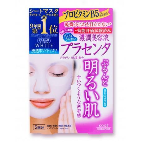 Maska KOSE CLEAR TURN  Mask (Placenta)