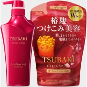 Zestaw odżywka+ wersja do napełniania butelki  SHISEIDO  Tsubaki Extra Moist
